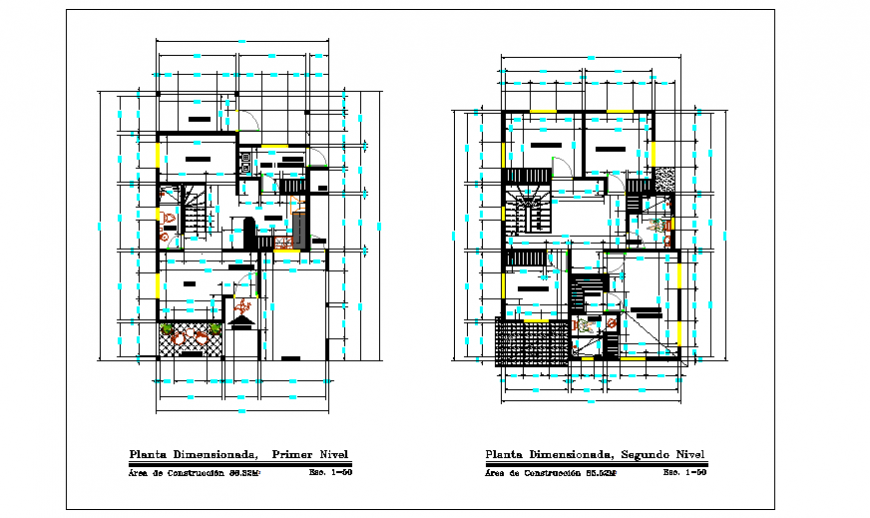 Working layout of single family home design drawing