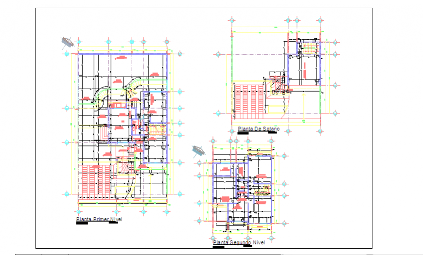 Working layout plan design drawing of family home design
