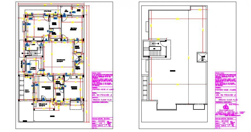 Working layout plan design drawing of house design