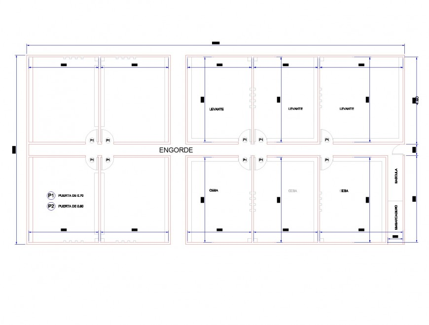 Working pig farm plan layout file