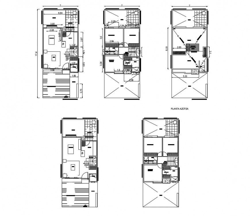 Working plan of apartment detail 2d view layout file in dwg format