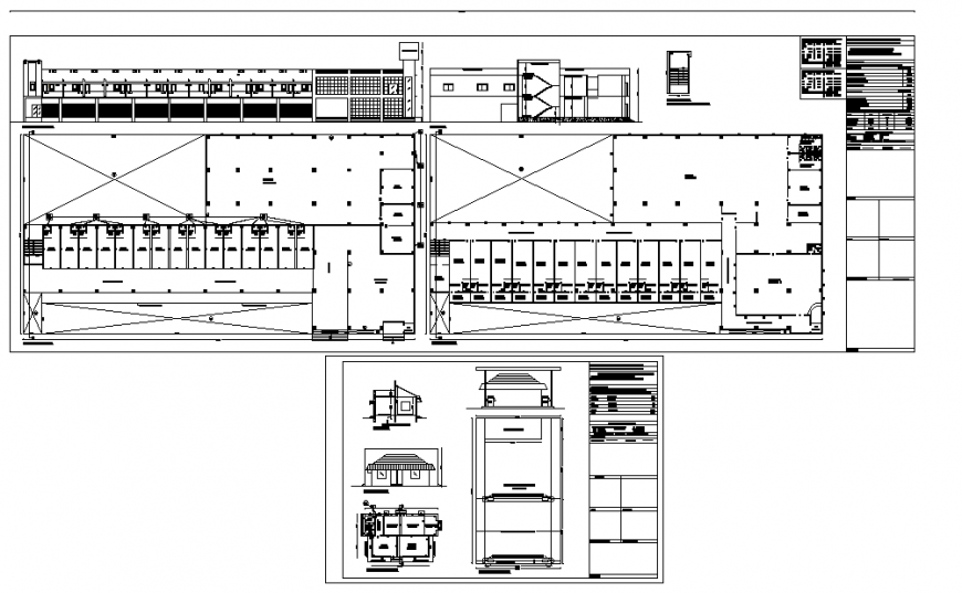 Working plan of commercial building in dwg file.