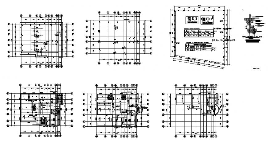 Working villa plan layout file