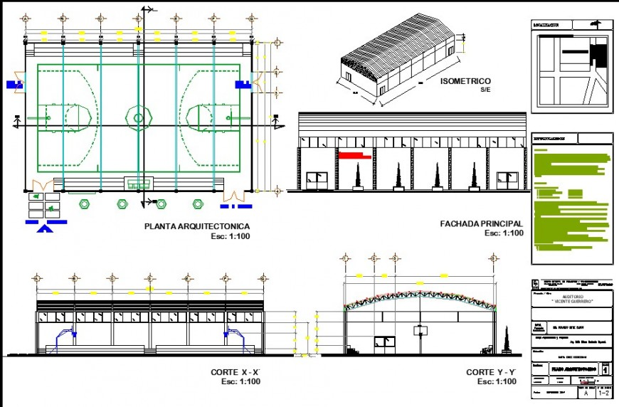 Workshop plan, elevation and section layout file