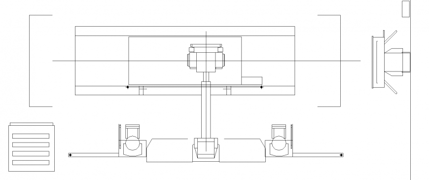 X Ray machine drawing in dwg AutoCAD file.