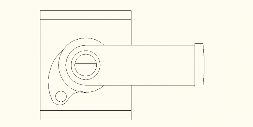 Yale door lock detail layout file