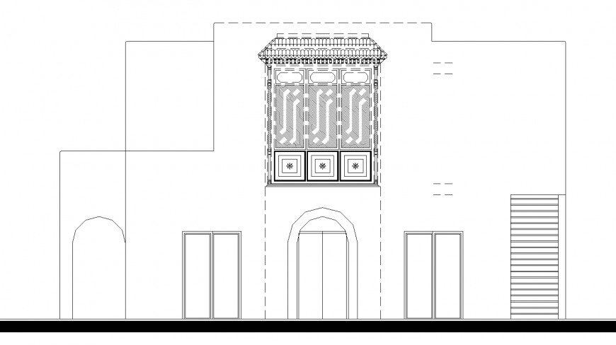 Zarukha design elevation drawing in dwg file.