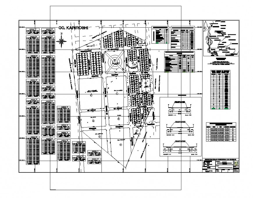 Zonal area mapping detail 2d view layout CAD construction blocks autocad file