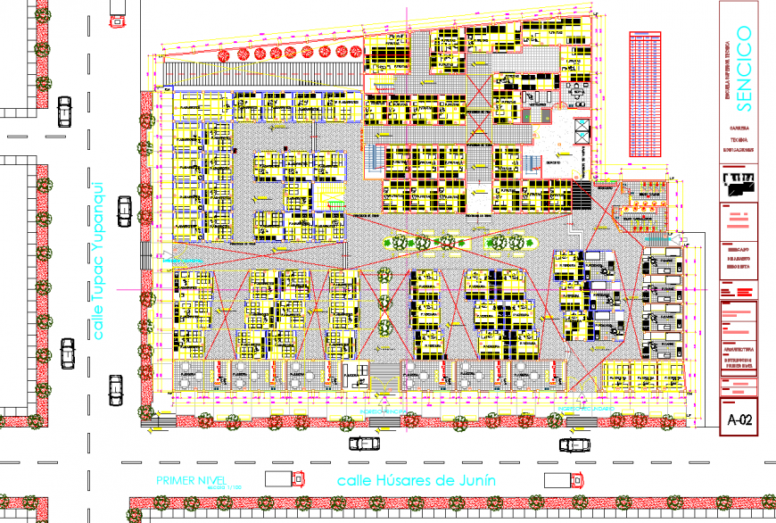 Zonal market layout plan drawing in dwg AutoCAD file.