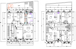 family housing plan dwg file