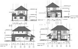 2 storey bungalow design in autocad