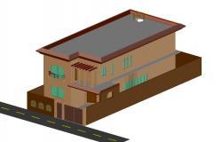 3d House Model DWG File