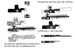 Architectural plants and lighting plans Detail