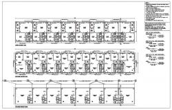 AutoCAD File Submission Drawing Of Residential Building With Calculation DWG