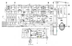 Autocad drawing of hotel electrical layout