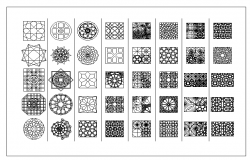 Block designs for doors windows and railing dwg file