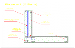 Block system in first plant design drawing