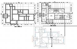Detailed guest house plan detail dwg file.