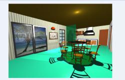 Dining area in 3D