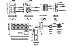 Doors and window detail in dwg file