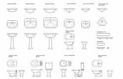 Duravit plan detail dwg file.
