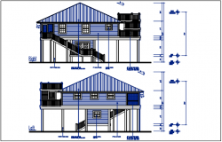 Elevation details with dimension details dwg files