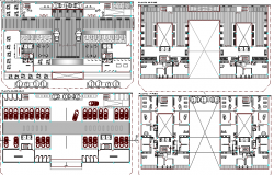 Floor Plan Details of Housing Building Project dwg file