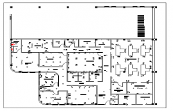 Floor plan of a warehouse dwg file