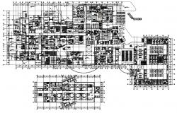 Fully Furnished Big General Hospital Plan With Working Drawing AutoCAD File