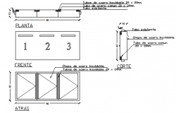 Furniture plan and elevation detail dwg file