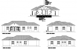 Guest house plan detail dwg file.