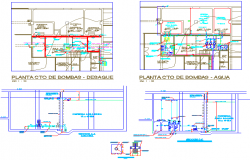 Health centre plan and elevation detail dwg file