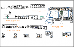 Hotel building detail dwg file