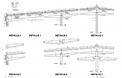 Industrial nave section by deck plan detail dwg.,