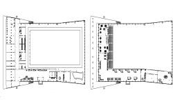 Plan detail of Swimming pool complex