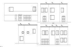 Residential house elevations in dwg file