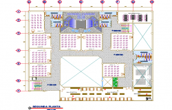 Second floor Layout commercial plan detail dwg file