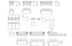Sofa set plan detail dwg.