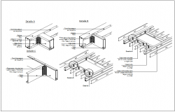 Steel structure connections and joints dwg file