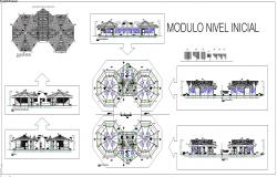 Education centre architecture design and drawing