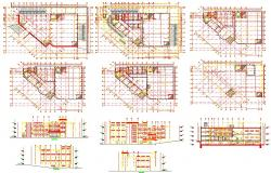 Factory architecture plan detail in autocad files