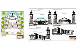 Church architecture design and detail