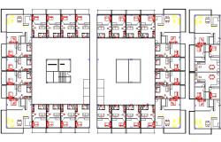 1 BHK Flat layout plan