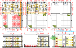 100 Sq mtr 3 bhk apartment architecture plan and design