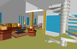 3d Interior Design of Drawing Room