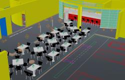 3d Restaurant interiors design