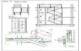 Detail Stair way in zig-zag