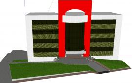 3d commercial building