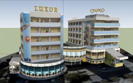 Modern 3d hotel details