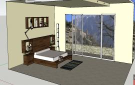 3d bedroom furniture details